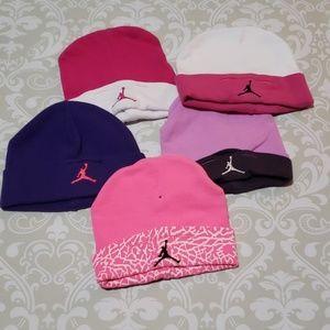 BUNDLE of 5 Michael Jordan baby girl hats